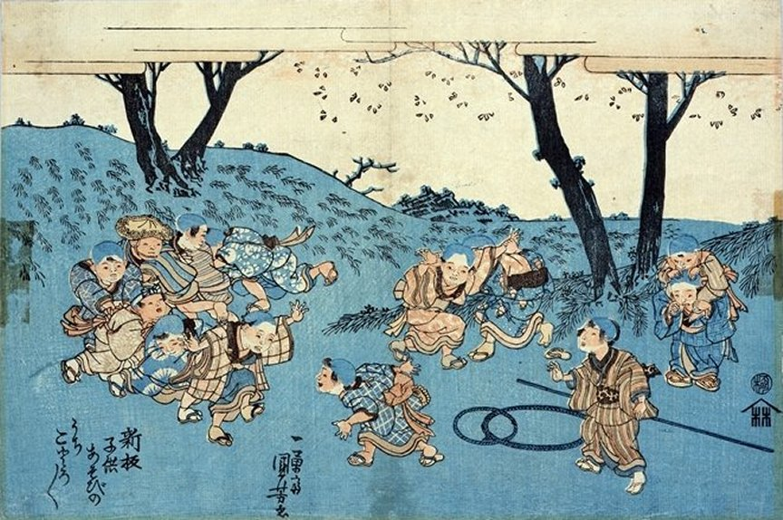 Yoshitora - (ôban) Children at Play (Series with Kuniyoshi),
