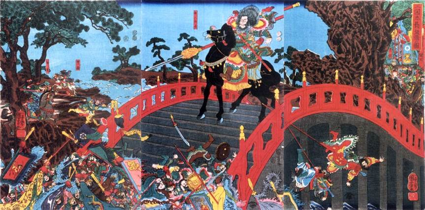 Kuniyoshi - (T273) The Forty-seven Ronin in council in their lord's palace